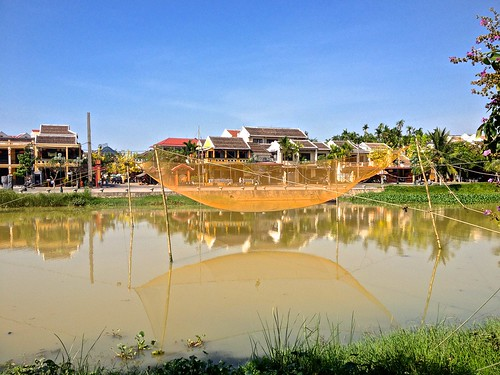 A traditional fishing net located near the center of Hoi An. We waited for a demonstration, but no one showed up!