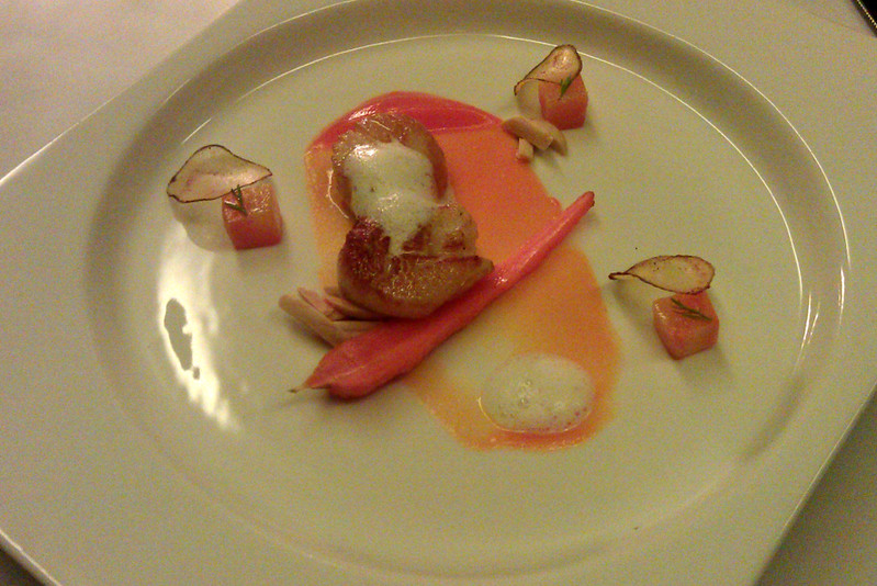 The Goose Station's scallop and carrots
