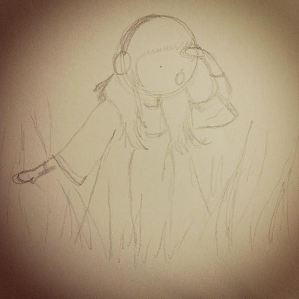 Mori girl sketching. #morigirl
