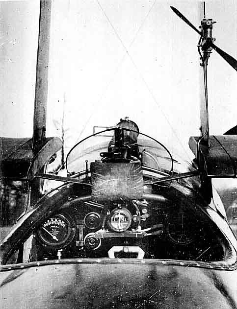 6. The cockpit of a Sopwith Triplane.