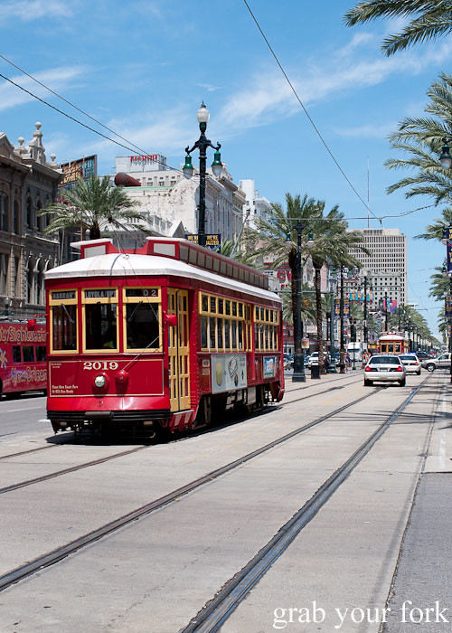 canal street tram in new orleans louisiana
