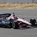 Helio Castroneves heads up the hill during practice at Sonoma Raceway