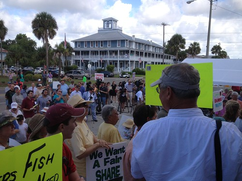 Media attention at Save the Bay Day in Apalachicola