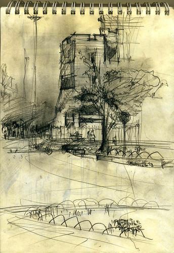 Imam Hossein Square (Dolat Portal- دروازه دولت) 2 by Behzad Bagheri Sketches