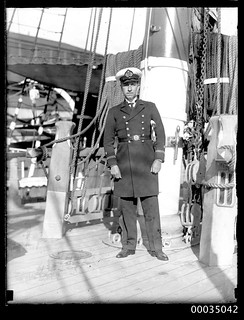 Chilean navy officer, probably a Lieutennt 2nd grade, on board GENERAL BAQUEDANO