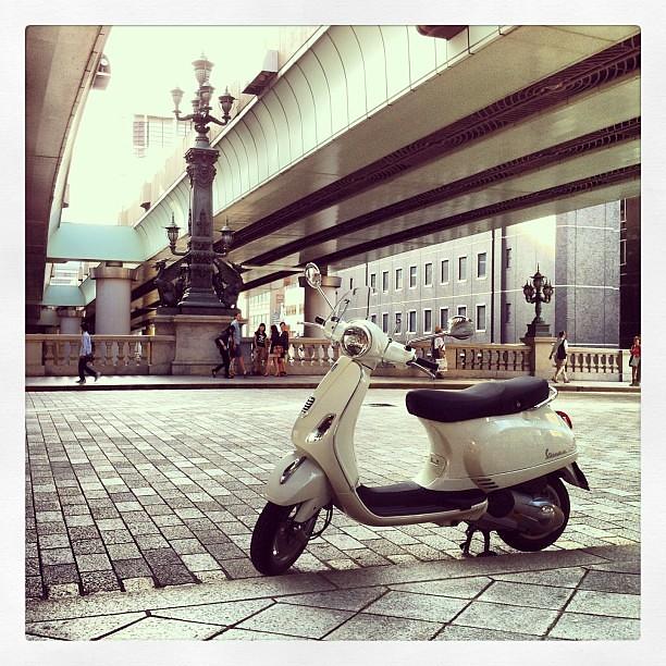 #Piaggio #Vespa LX125 3Vで日本橋。