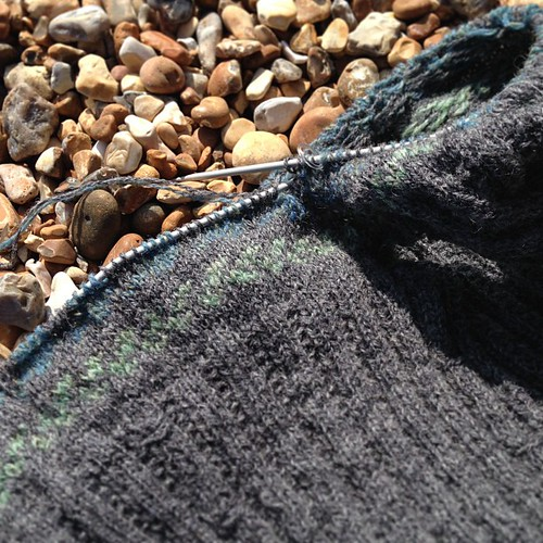 Little Birds on the beach. #knitting