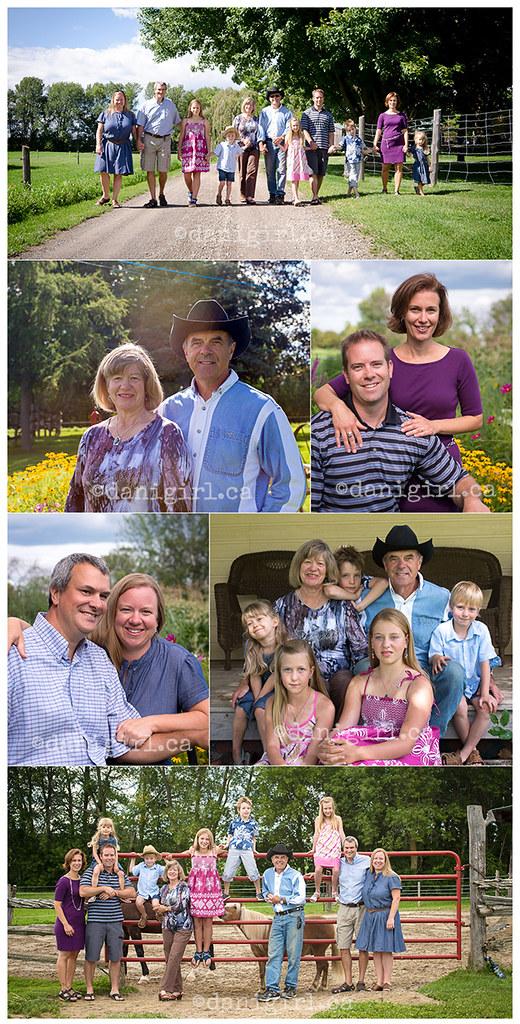 在农场户外大家庭的照片