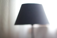 lamp, light fixture, white, lampshade, light, lighting, black,