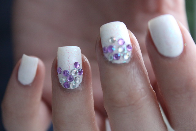 Living After Midnite: White Sparkle Mani