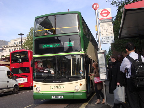 Seaford and District V310 KGW on Route 26, St Paul's