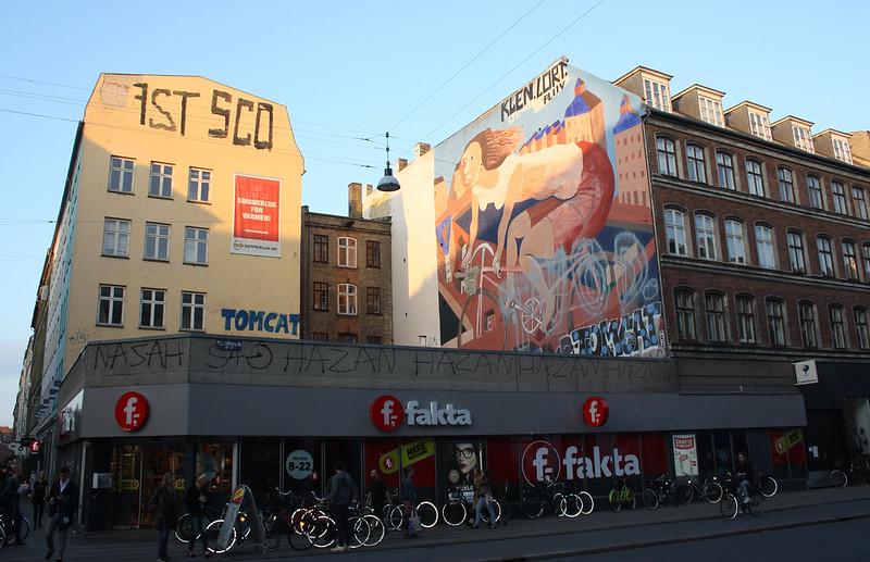 Copenhagen Kobenhavn bike mural