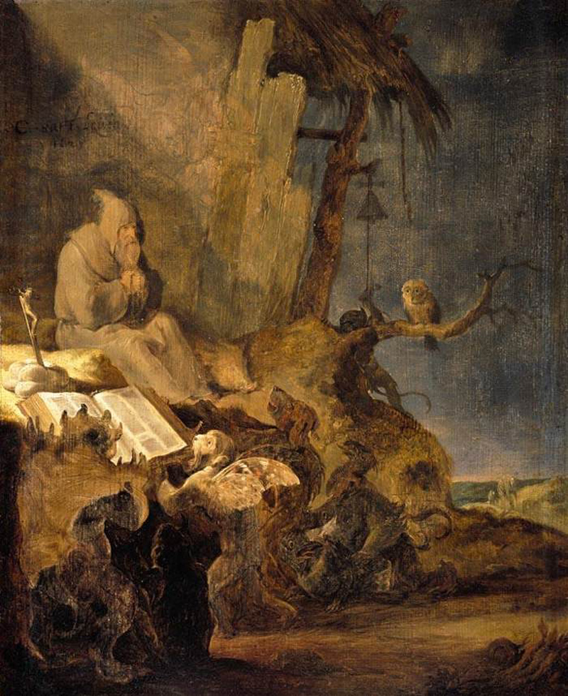 Cornelis Saftleven - The Temptation of St Anthony, 1629