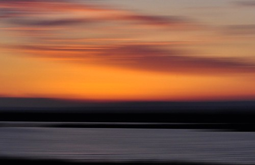 sunset red sky orange black water sunrise outside spring motionblur ponds southoffrance camargue étangs floudebougé