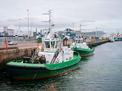 Shackleton, Beaufort & MSC Splendida at Dublin Port