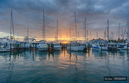 ocean summer water clouds sailboat marina sunrise boats dock florida cloudy keywest piling hdr seaport canon6d timazar