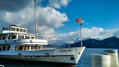 On a boat on Lake Lucerne