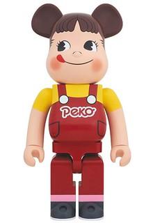 《不二家》牛奶妹Peko醬 1000% BE@RBRICK 巨大推出!
