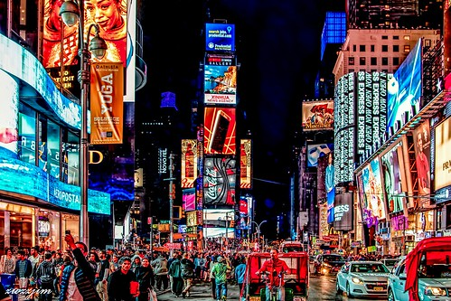 The night view of Times Square 01, NY, USA