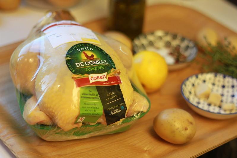 Pollo asado fácil al horno