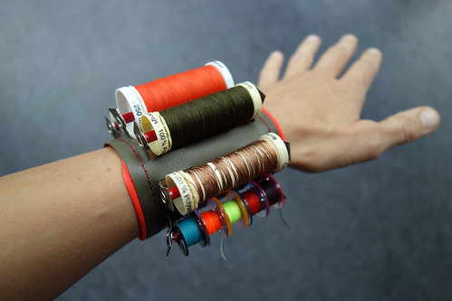 Thread amunition pack bracelet