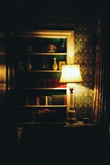 Scotney Castle Lamp and Books