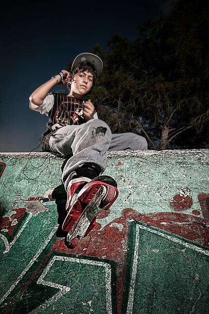 inline skater portrait