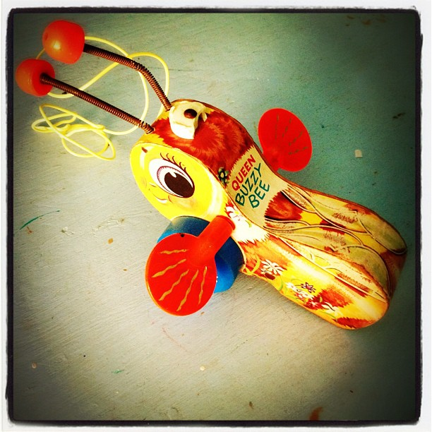 Vintage Bee Toy #antique #toy #vintage #bees #old
