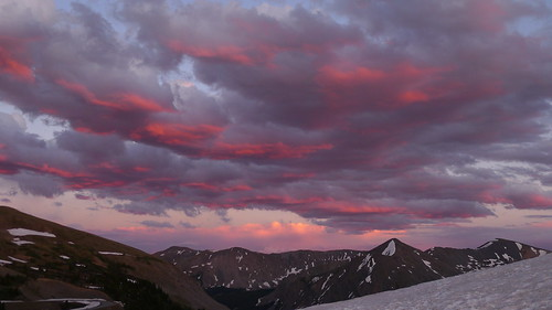 sunset mountains colorado cottonwoodpass