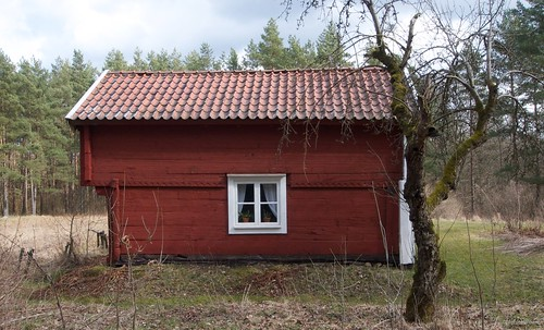 Högloftsstuga, high loft and lower rooms