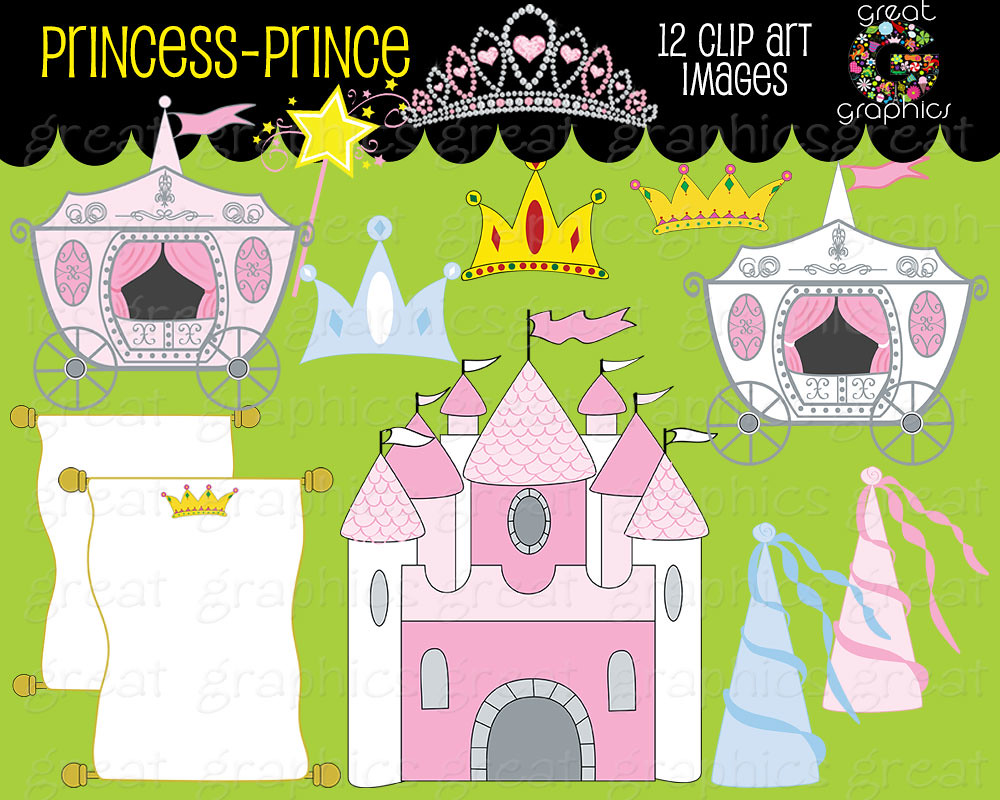 Princess Digital Clip Art