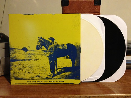 Sick Sick Birds - Gates Of Home LP - Yellow (/100) & Black Vinyl by Tim PopKid