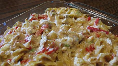 Mediterranean Tuna-Noodle Casserole - Can Cook, Will Travel