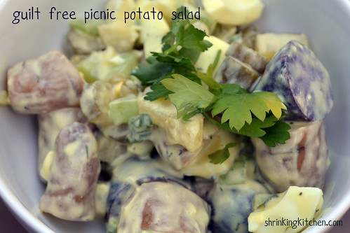 Guilt Free Picnic Potato Salad from the Shrinking Kitchen