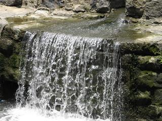 waterfall on the railroad dam