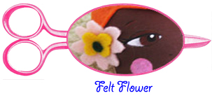 Felt flower for dolls hair