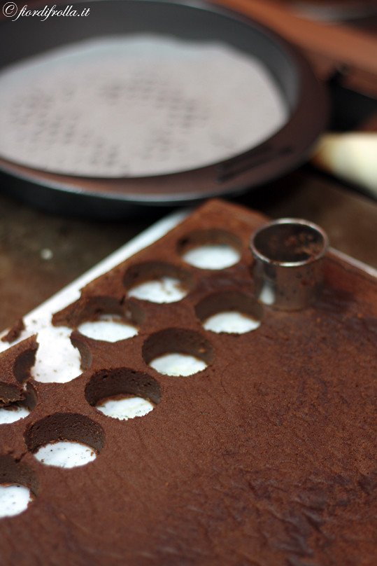 Piccoli cerchi di torta tenerella