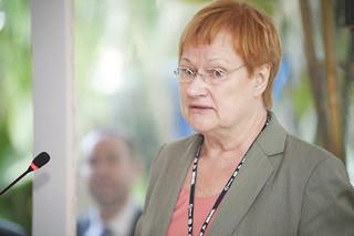 Staatspräsidentin Tarja Halonen