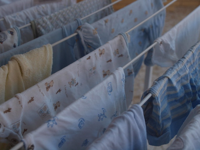 baby clothes out to dry