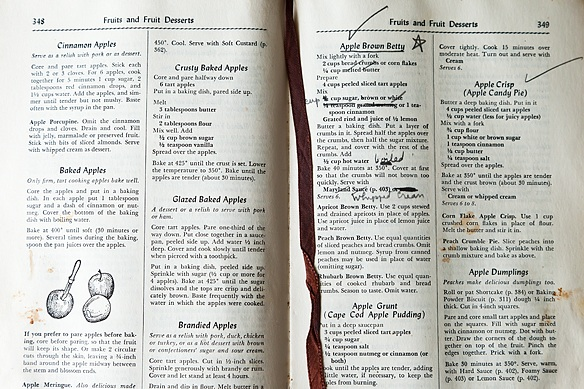 Written-in cookbook