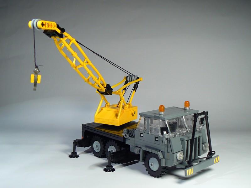 technic lego tractors truck trucks equipment crane delicatessen creations