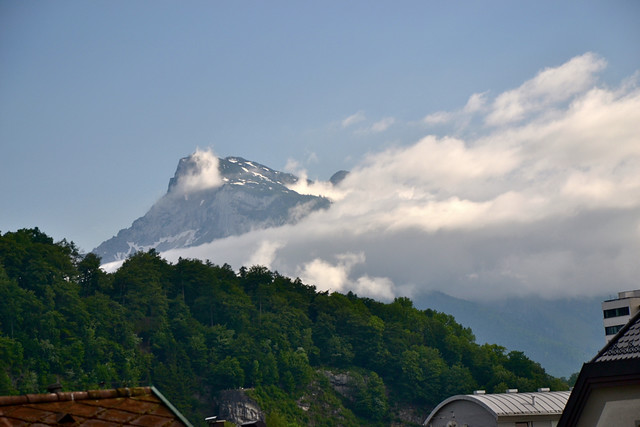 Clouds lifting around the Untersberg