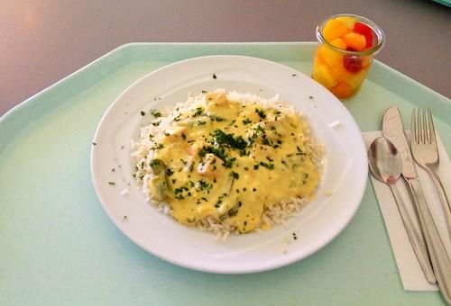 Fischragout mit Spargel / Fish ragout with asaparagus