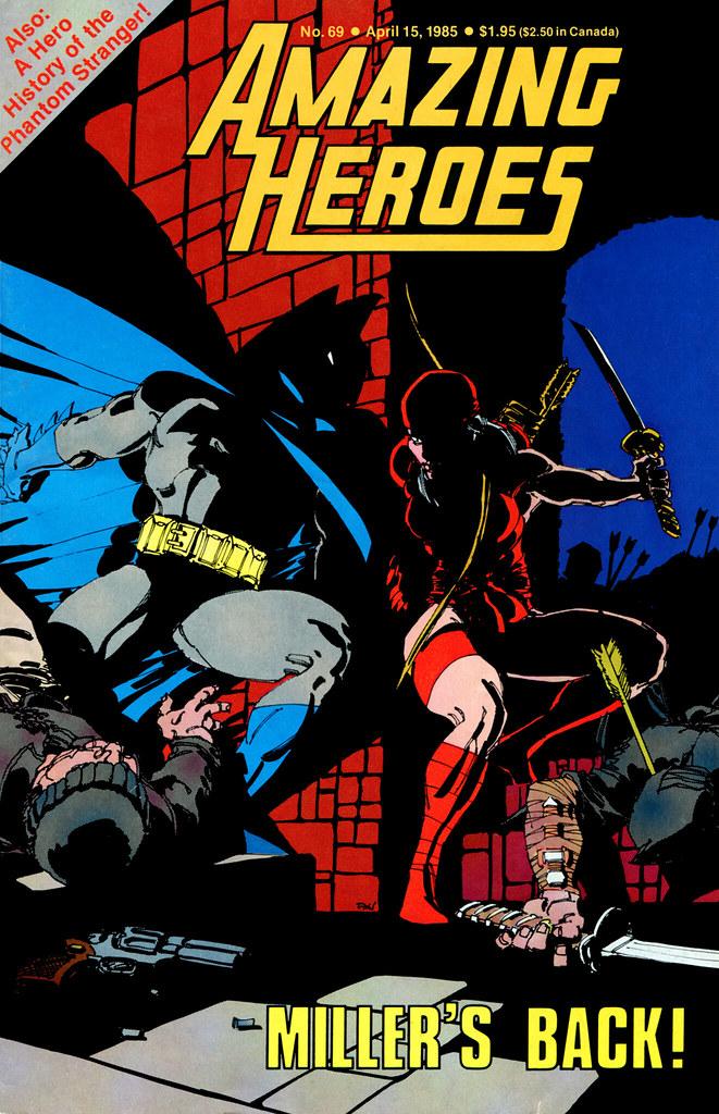 Amazing Heroes 69 Frank Miller cover Batman Elektra