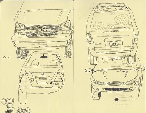 Sketching cars #2