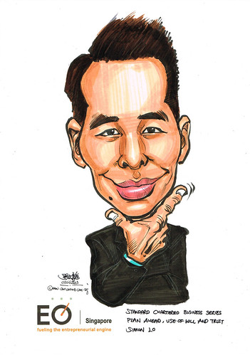 Simon Lo caricature for EO SIngapore