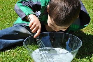 Whisking to Make Bubbles