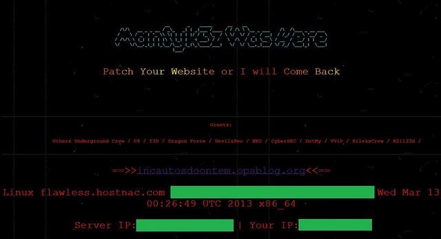 Incautos do Ontem hackeado