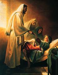 Jesus Blessing Jairus's Daughter
