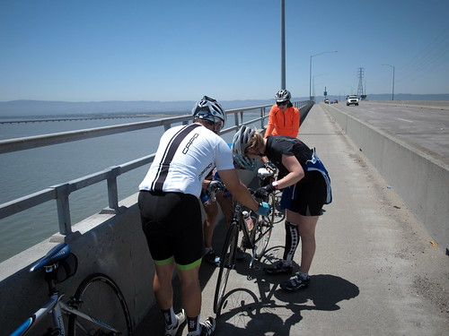 Fixing a dropped chain on the dumbarton bridge